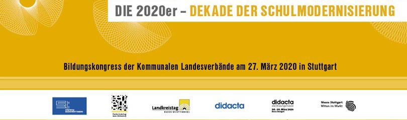 Gelbes Plakat mit Logo des Bildungskongresses