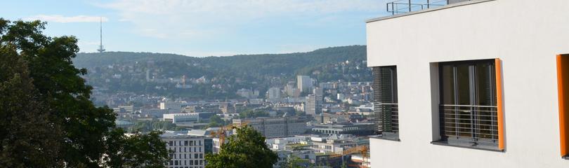 Aussicht von der Geschäftsstelle des Gemeindetags auf die Stadt Stuttgart