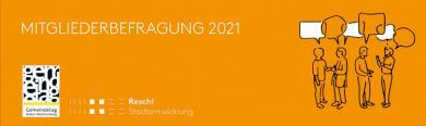 Titelbild mit Logos zur Mitgliederbefragung 2021